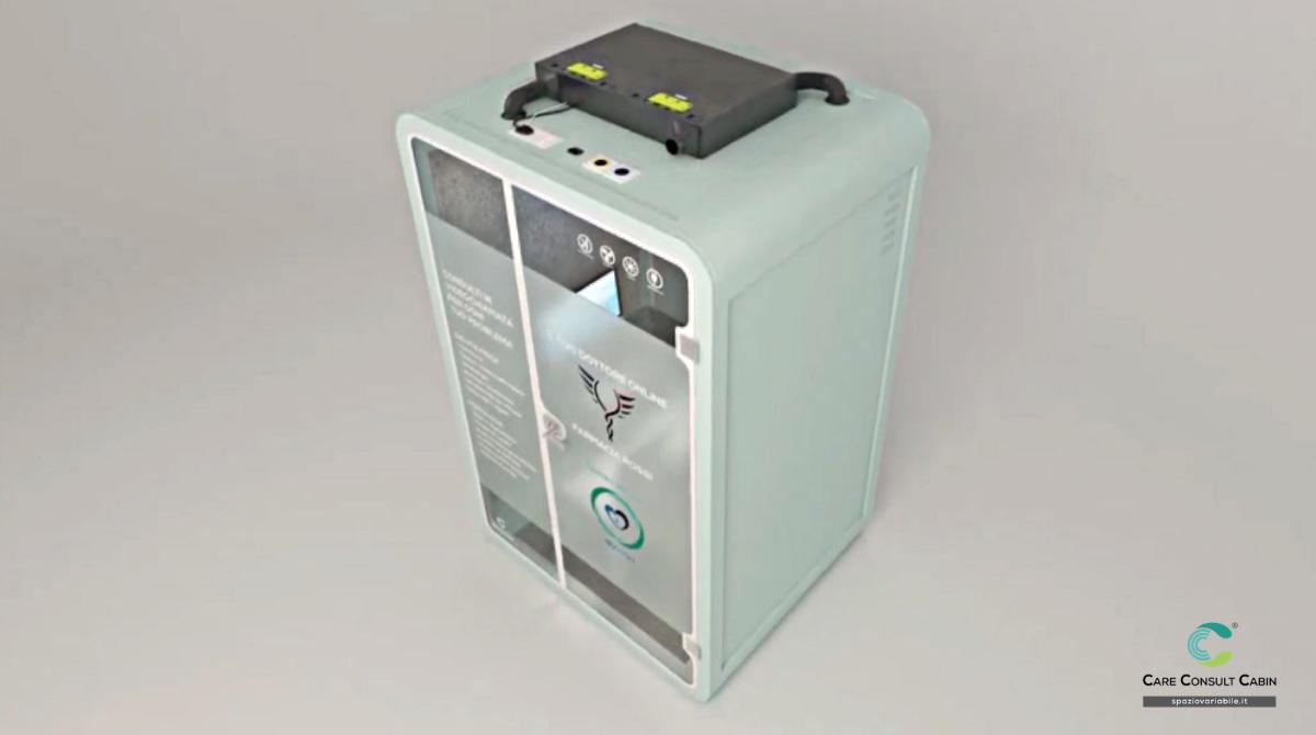Filtro Hepa per la sanificazione interna della cabina, collegabile all'impianto di climatizzazione esistente
